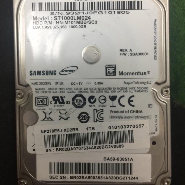 Ổ cứng laptop 1T Giá chỉ 700.000₫