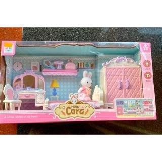 Bộ nhà thỏ : bàn trang điểm , giường , tủ, rất xinh .
