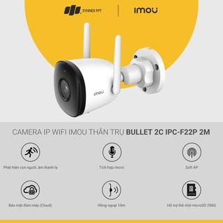 Camera IP WIFI Imou thân trụ Bullet 2E IPC-F22FP-0280B 2M, Smart Night Vision Mode 2Y WTY_IPC-F22FP - Hàng Chính Hãng