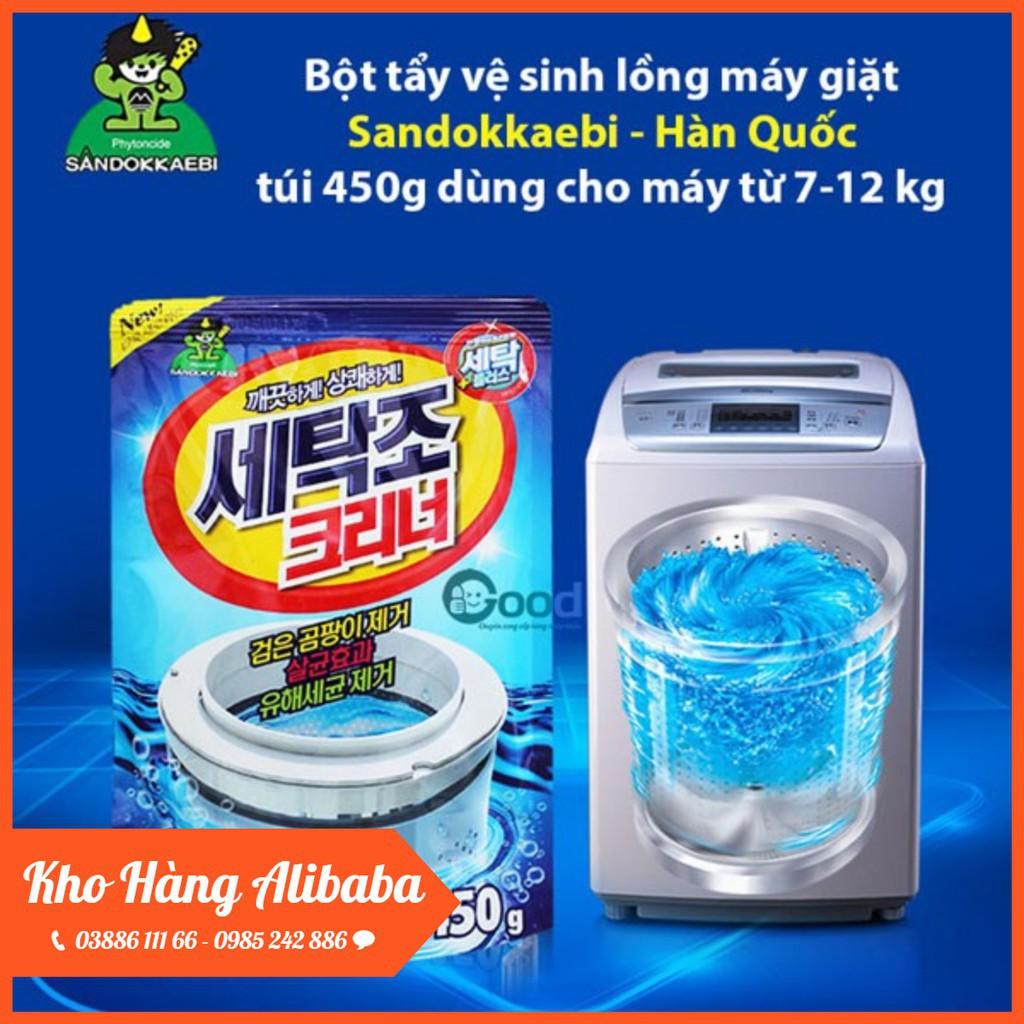 Bột tẩy vệ sinh lồng máy giặt Hàn Quốc Sandokkaebi 450g