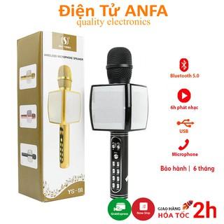 Micro không dây Karaoke Bluetooth JVJ YS-91, mic kèm loa hỗ trợ ghi âm, thẻ nhớ