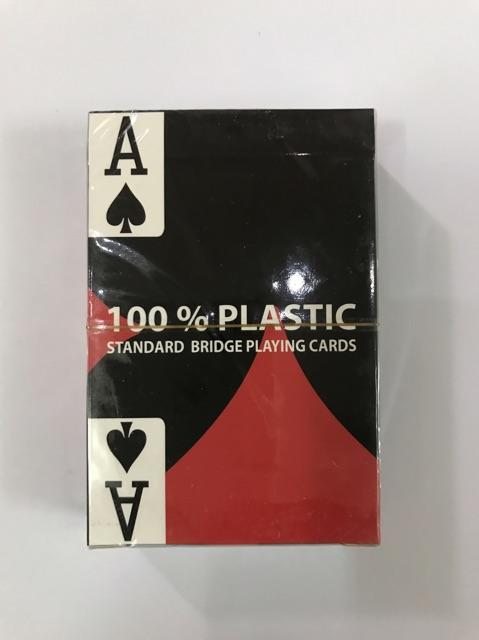 Combo 2 bộ bài nhựa 100% plastic của Mỹ chống trơn, chống nước, chống gập gãy