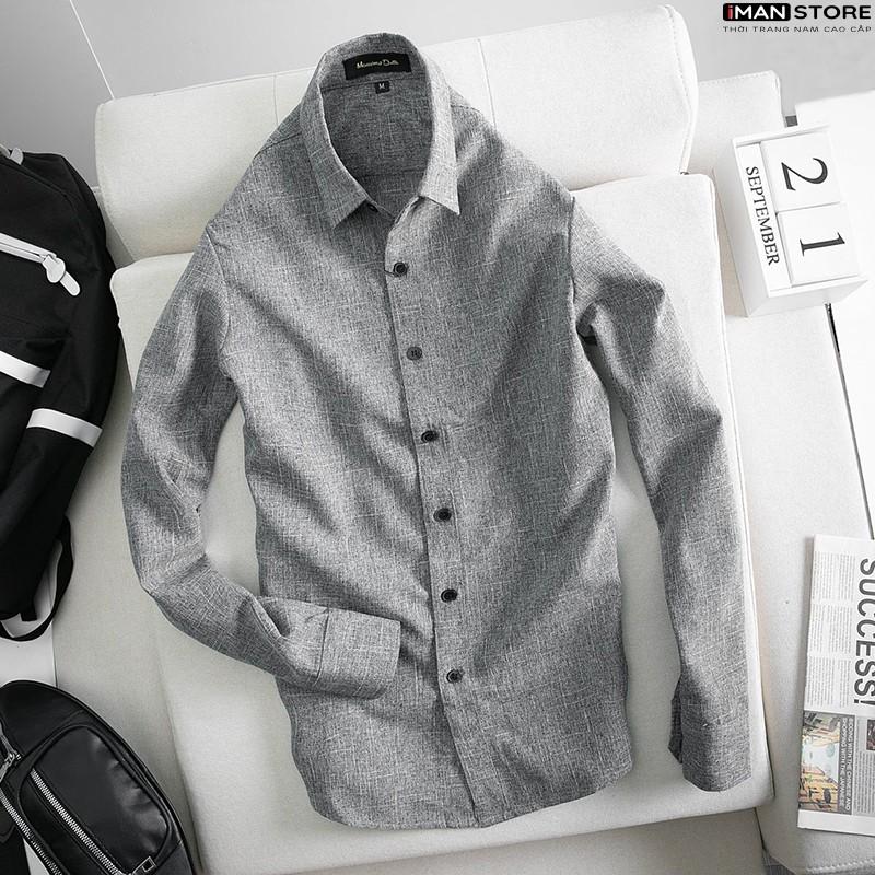 Mặc gì đẹp: Sang trọng với Áo Sơ Mi Nam Dài Tay VẢI ĐŨI [Cao Cấp], Sơ Mi Nam Hàn Quốc Công Sở Chất Vải Đũi Thoáng Mát, Bền ĐẸP