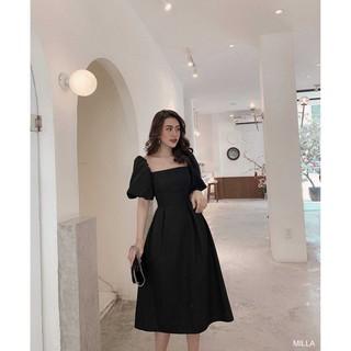 (suclothing) MILLA DRESS – Đầm xòe tay phồng dự tiệc – váy maxi thiết kế