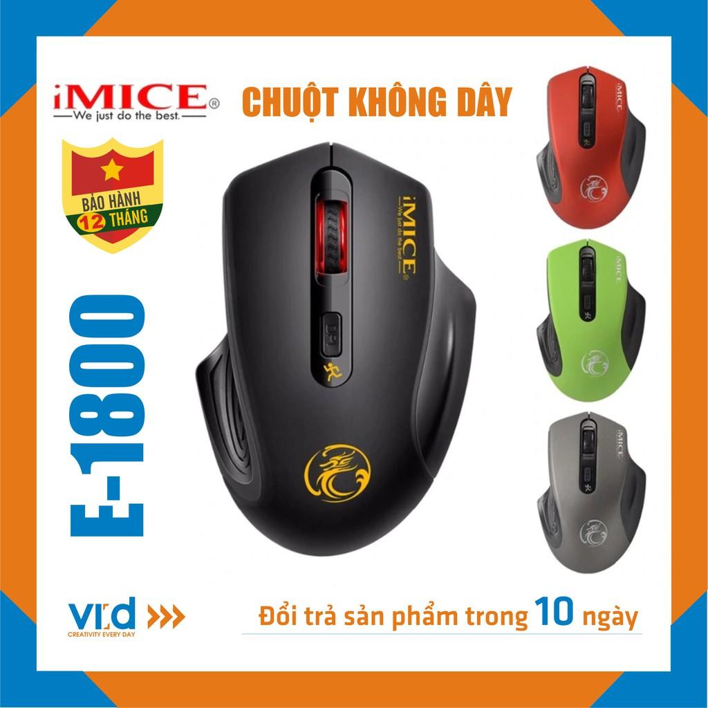 Chuột không dây iMICE E-1800 - Độ nhạy max 2000 DPI , Sản phẩm chính hãng, bảo hành 12 tháng !!!