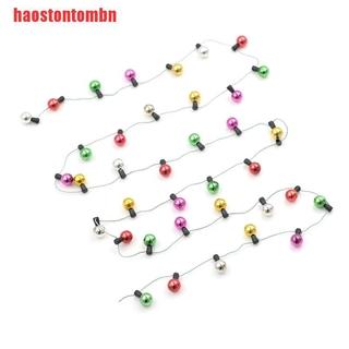 [haostontombn]1m Dollhouse Miniature A String of multi-coloured plastic Christmas r