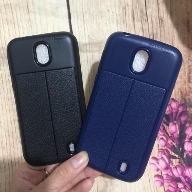 Ốp Nokia 1 dẻo giả da vân chỉ nổi bóng 4D cao cấp