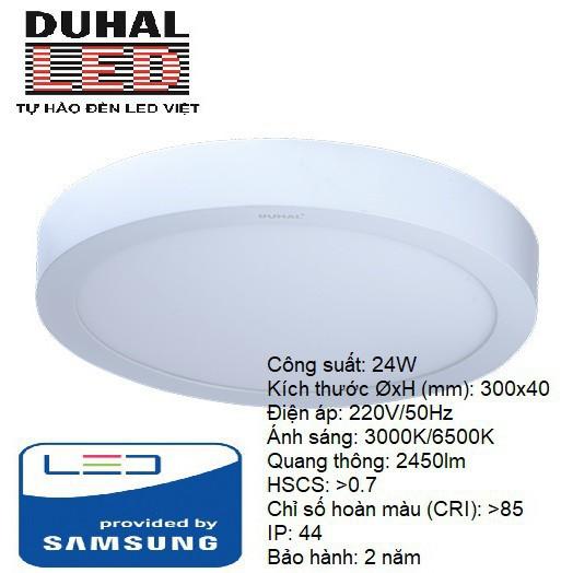 Đèn ốp trần nổi Duhal 18W 24W Đèn Panel