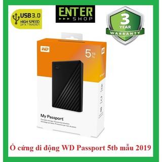 Ổ cứng di động WD My Passport 1Tb đến 5Tb Mẫu 2019 Tặng túi đựng