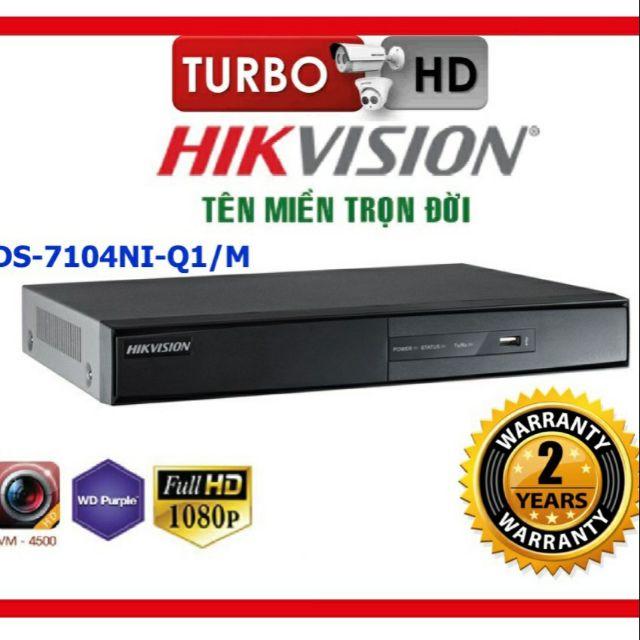 Đầu ghi hình camera IP 4 kênh HIKVISION DS-7104NI-Q1/M