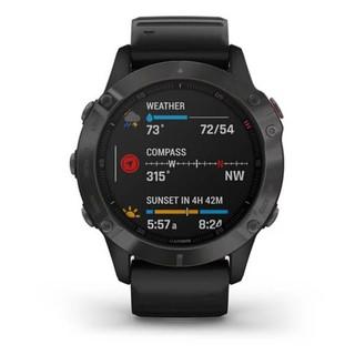 Đồng hồ thông minh Garmin Fenix 6X - Sapphire, 51mm, Carbon (Đen) - Chính Hãng thumbnail