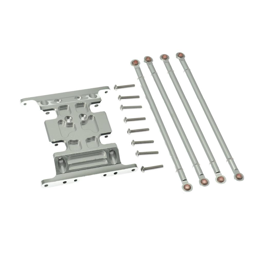 Aluminum Center Skid Plate With 125mm Pull Rods Fit For Axial SCX10 1:10 RC Car