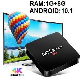 Android TV box MXQ PRO 4K Android:10.1 Đã cài sãn xem truyền hình 200 kênh YouTube Facebook chơi game vv