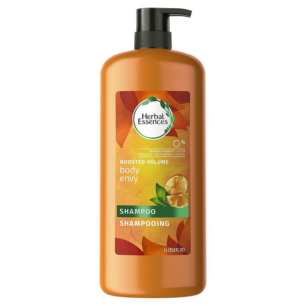Dầu gội hương cam chanh giúp phồng tóc Herbal Essences Body Envy Volumizing  Hair Shampoo 1L (Mỹ)   Shopee Việt Nam