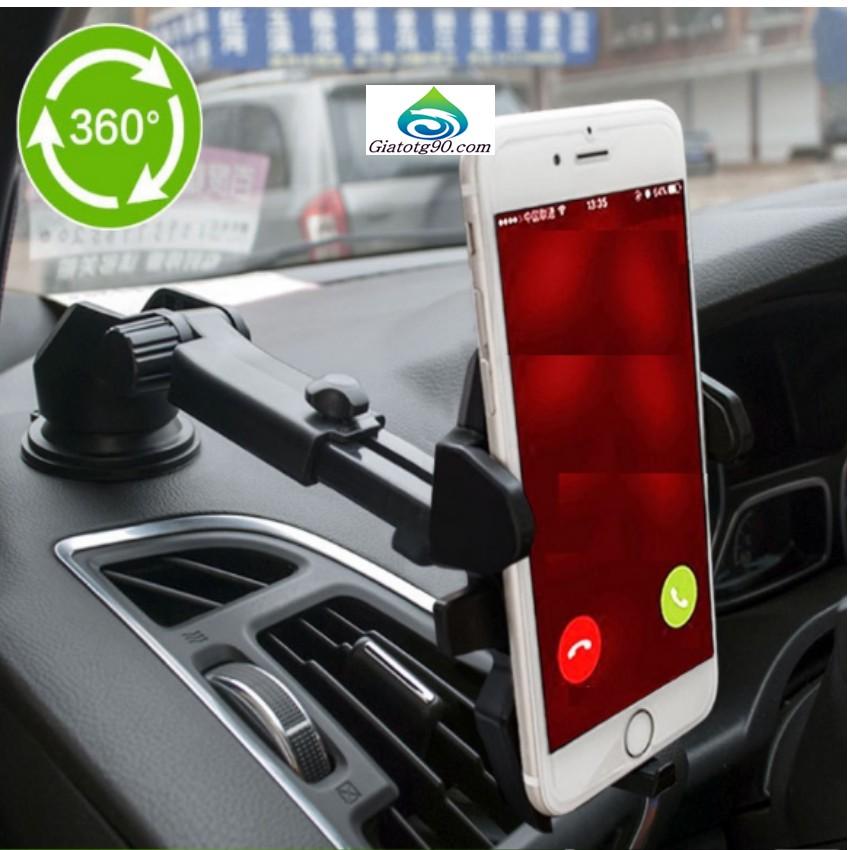 Giá đỡ điện thoại gắn kính xe ô tô, hoặc mặt phẳng, kéo dài ngắn đa năng loại tốt N81 206265 (Đen)