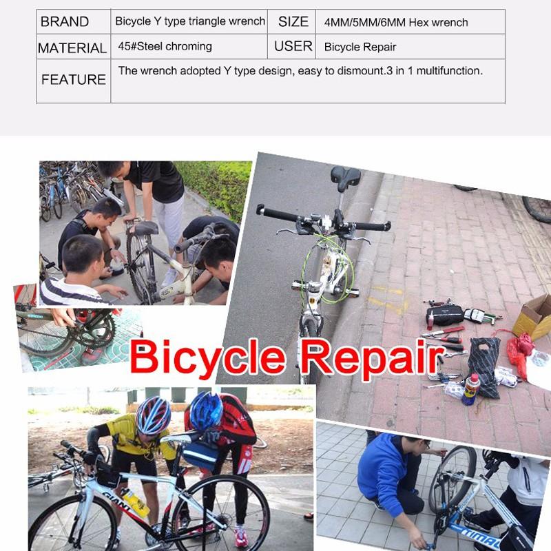 Cờ lê mini 4MM 5MM 6MM dùng sửa chữa xe đạp đa năng tiện lợi cao cấp