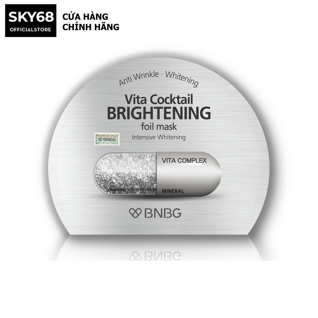 Mặt nạ dưỡng sáng da và làm mờ vết thâm BNBG Vita Cocktail Brightening Foil Mask - Intensive Brightening