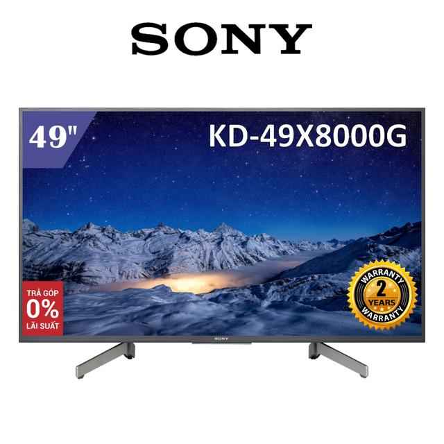 Android Tivi Sony 49 inch 4K UHD KD-49X8000G - Hàng Chính Hãng
