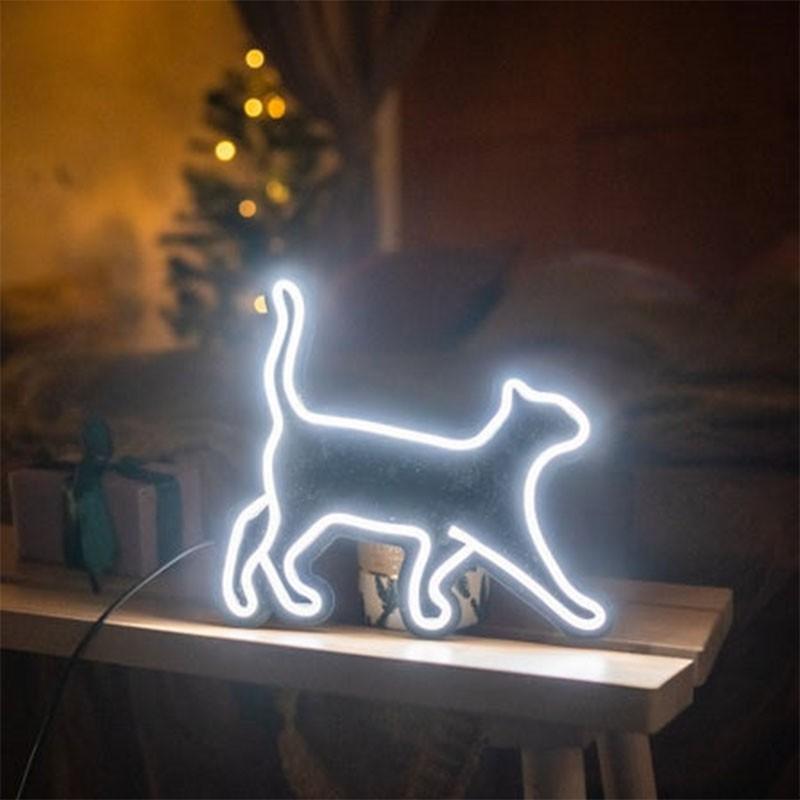 Đèn Trang Trí Led Neon Sign Hình Mèo [ Mẫu 1 ] Cat led neon