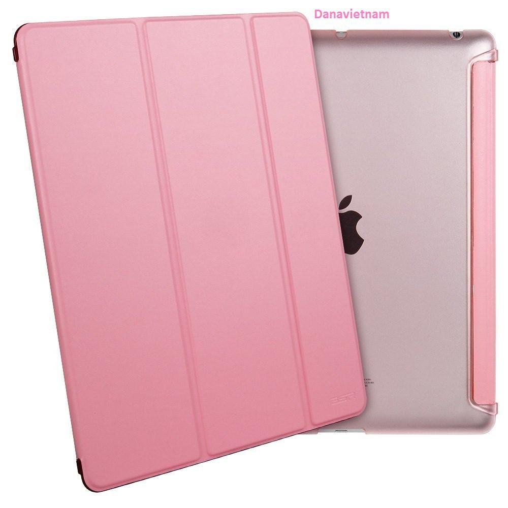 Bao da iPad New 2017/iPad Pro 9.7''/iPad Air/iPad Air 2/iPad Mini123/iPad Mini4/ iPad 234 (hồng nhạt) tặng bút cảm ứng