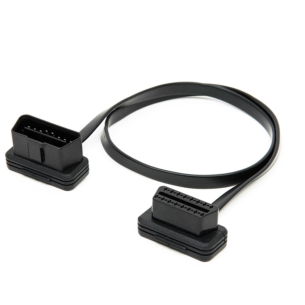 Easy Use 16Pin Car Accessories Diagnostic Tool Flat Stable Male To Female Extension Cable