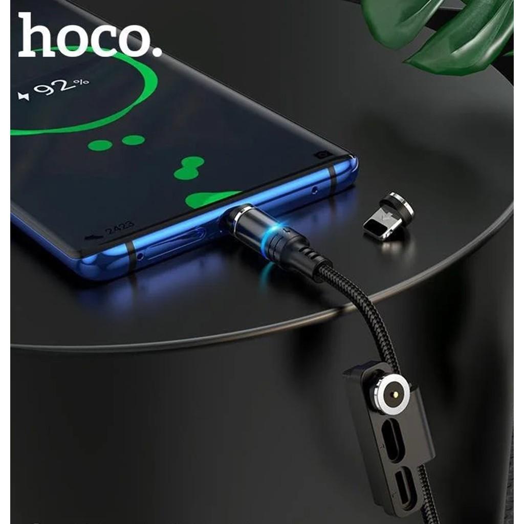 Cáp sạc đầu hít nam châm Hoco DU03 3 in 1 ( Lightning/Micro/Type-c ),sạc nhanh 2A,dài 1m đầu sạc từ tính dễ dàng sử dụng