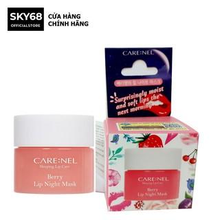 Mặt nạ ngủ môi dưỡng ẩm và tẩy tế bào chết hương dâu Care nel Lip Sleeping Mask Berry 5g