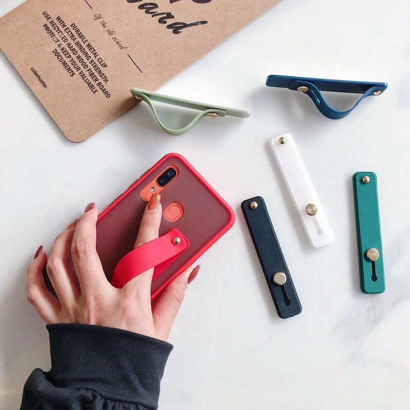 Giá đỡ Ốp lưng Bạn có thể sử dụng 13 dây đeo cổ tay đồng màu làm giá đỡ, phù hợp với tất cả các trường hợp điện thoại di động