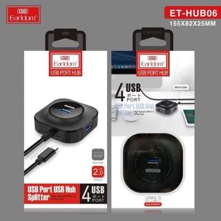 [Mã ELFLASH5 giảm 20K đơn 50K] Bộ chia cổng USB -1 Ra 4 - HÃNG EARLDOM BH 12 THÁNG