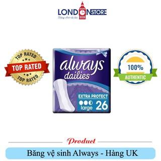 Always Dailies Extra – Băng vệ sinh Anh uy tín