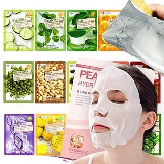 Mặt nạ 3D Foodaholic Collagen, Cà chua, Lựu, Dưa leo, Trà xanh, Lô hội, Sâm, Q10, Khoai tây thumbnail