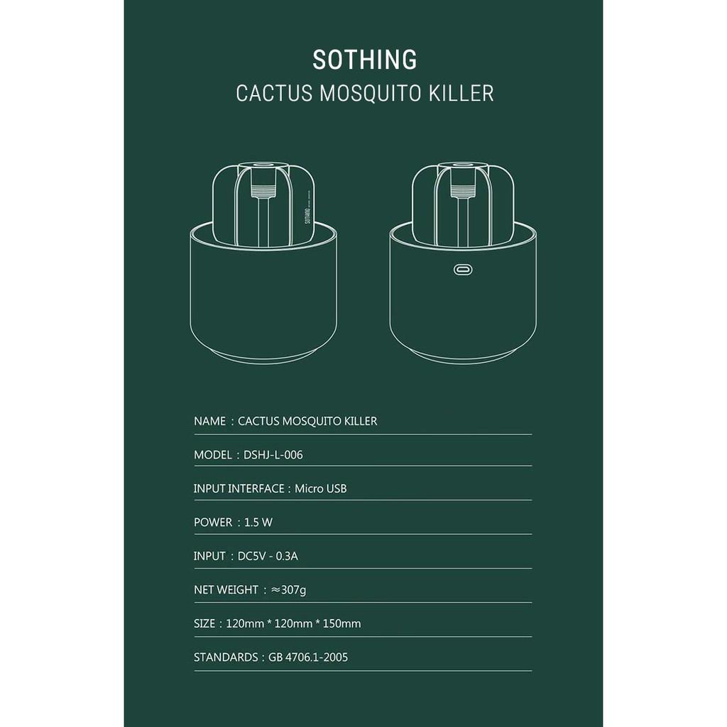 CHÍNH HÃNG] Đèn Bắt Muỗi UV Không Hóa Chất Cây Xương Rồng Chính Hãng Xiaomi  Sothing Cactus Mosquito Killer MINIGOO