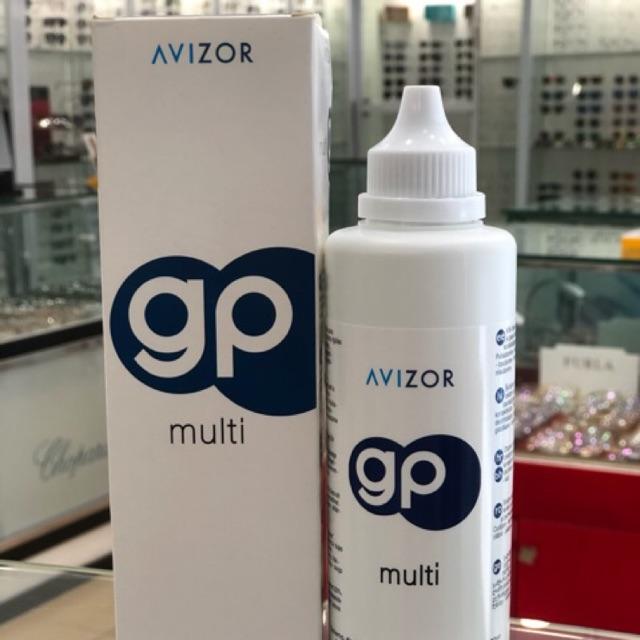 [TẶNG KHAY GƯƠNG] Dung dịch ngâm kính áp tròng cứng Avizor GP Multi (240ml)