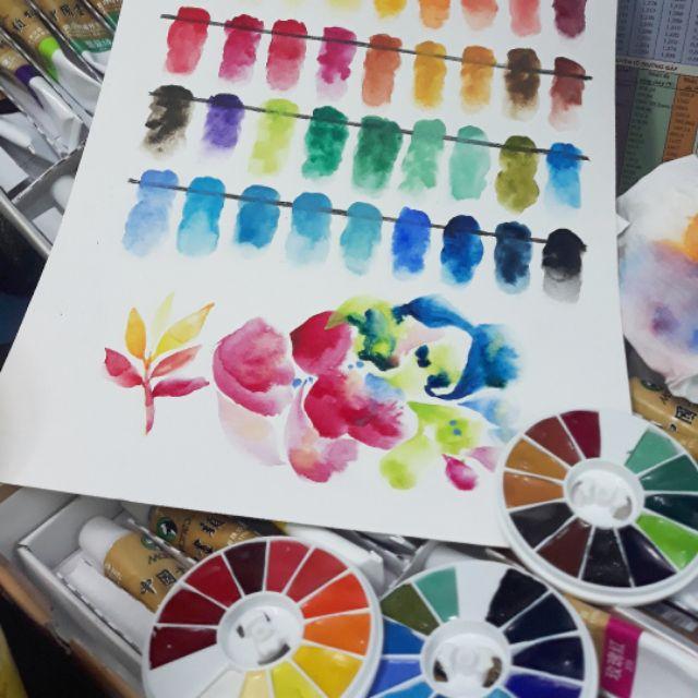 [Watercolors] Pocket Màu Nước Marie's Dòng Thủy Mặc 0.5ml