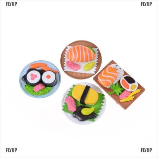 【FLYUP】Sushi Bento Lunch For Miniature Dollhouse Handmade Food Home Kitchen Decor