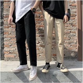 Quần Kaki Baggy Nam Nữ KAKI Ống Suông Unisex – Kiểu quần kaki đen và kem