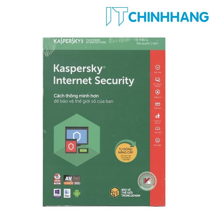 PHẦN MỀM BẢO MẬT MÁY TÍNH KASPERSKY INTERNET SECURITY - HÃNG PHÂN PHỐI CHÍNH THỨC