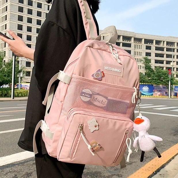 Balo ULZZANG, balo thời trang- BL213, nhiều ngăn, vải chống thấm nước, trẻ trung phong cách Hàn Quốc