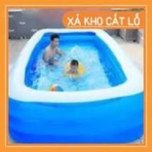 [FreeShip_Xả kho 1 Ngày] Bể Bơi Phao Chữ Nhật Cho Bé Thỏa Thích Chơi Tại Nhà Trong Mùa Hè Nóng...