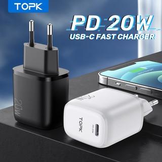 Củ Sạc 20W Topk B110p Mini Sạc Nhanh 20W Chuẩn QC3.0 Cổng Type C Dùng Cho Các Dòng Điện Thoại Iphone, Android...