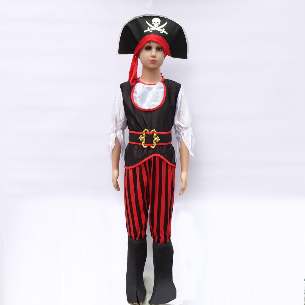 Bộ hóa trang thuyền trưởng cướp biển dành cho bé 3-5 tuổi chơi trung thu , Halloween