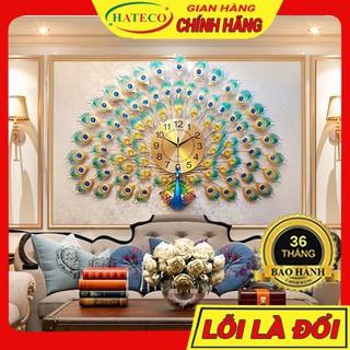 Yêu Thích[SALES 3 NGÀY] Đồng Hồ Treo Tường Con Công Trang Trí Phòng Khách Cỡ Lớn TT004