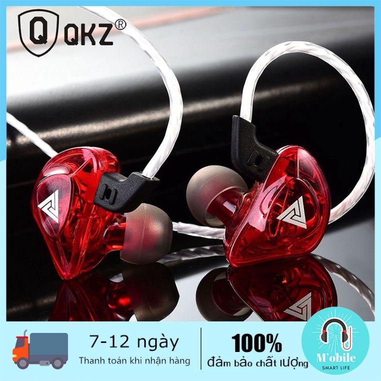 Tai nghe nhét tai QKZ AK5 4DD kiểu dáng thể thao kết nối có dây 3.5mm âm thanh HIFI DJ có micro