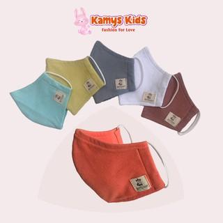Khẩu trang cotton trẻ em KAMYS KIDS chống bụi, bảo vệ bé khỏi những tác nhân gây hại từ môi trường thumbnail
