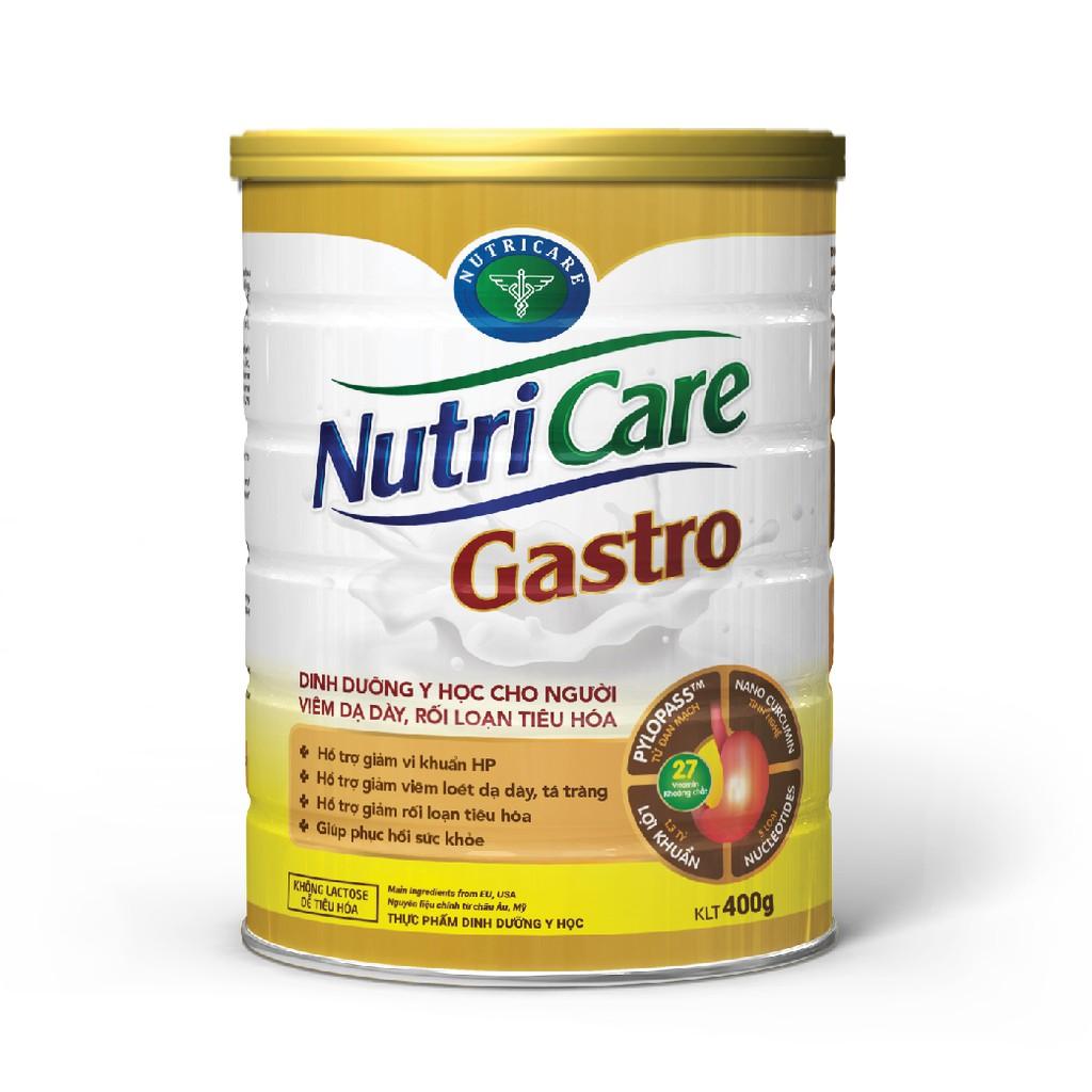 Sữa bột Nutricare Gastro 900g cho người viêm dạ dày rối loạn tiêu hoá