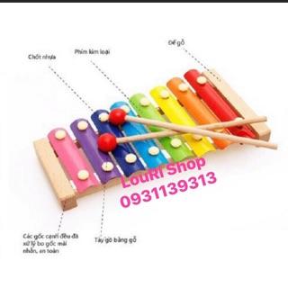 Đồ chơi Đàn Piano Xylophone gỗ 8 thanh