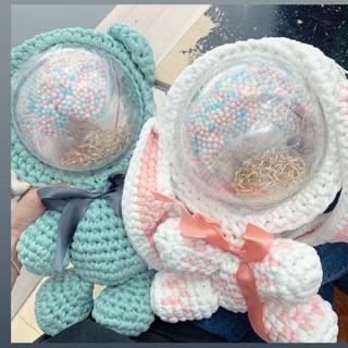Balo len thỏ hồng đan sẵn