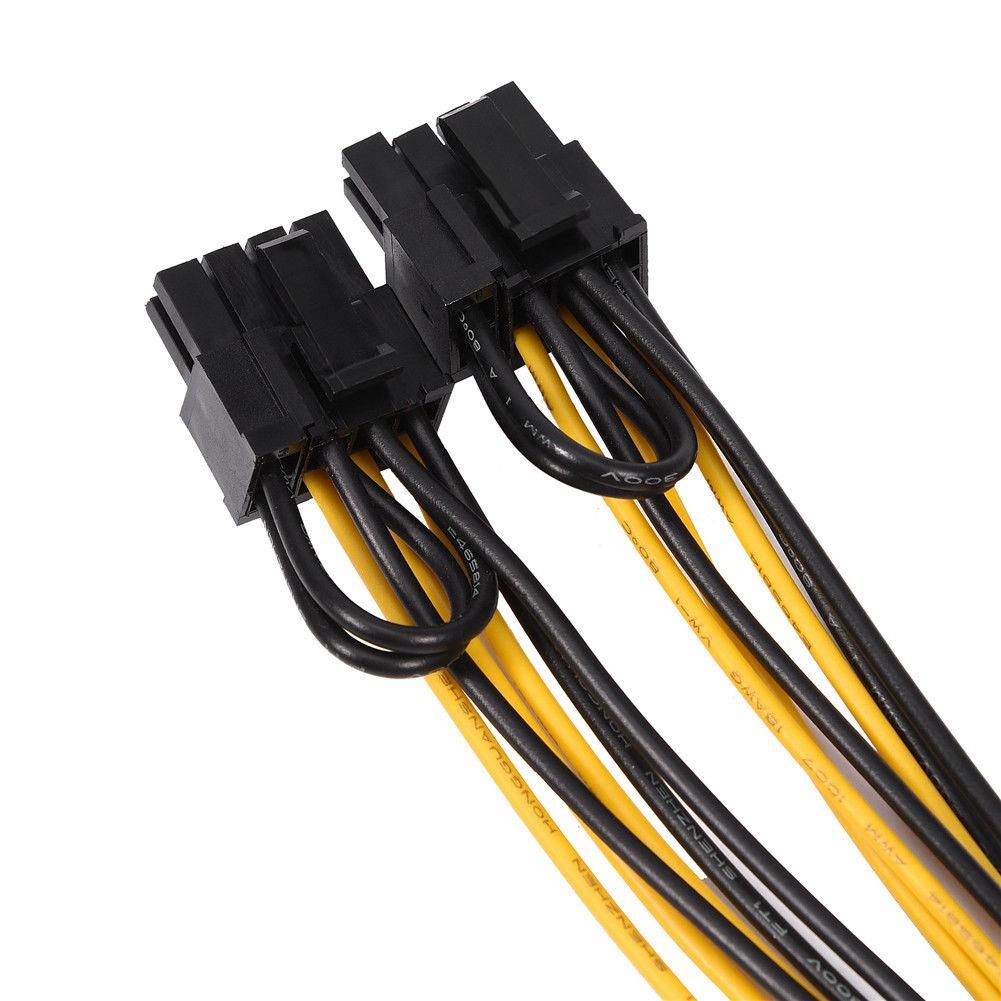 ❣8Pin to Dual 8 (6+2) Pin Video VGA Card Power Supply Adapter PSU