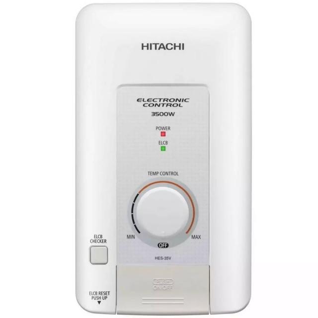 เครื่องทำน้ำอุ่น HITACHI (3500 วัตต์ สีขาว) รุ่น HES-35V-WH (จำกัด 1ชิ้นต่อ1คำสั่งซื้อจ้า)