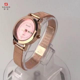 Đồng hồ nữ, chính hãng SENO, dây thép lưới cao cấp, mặt chống trầy xước, chống nước tốt - BẢO HÀNH 12 THÁNG